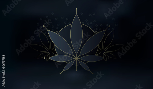 Cannabis marijuana background, hemp leaf symbol or logo design Tapéta, Fotótapéta