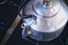 Boiling Kettle With Water Old ...