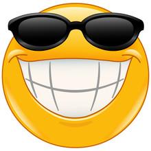 Sunglasses Emoticon With Big Smile