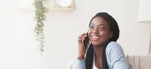 Cheerful African American Girl...