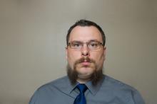 Man With A Weird Half Shaved B...