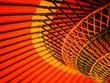 Leinwanddruck Bild - Close up of traditional Japanese red umbrella