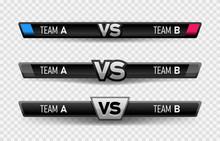 VS Duel Challenge Vector Illus...