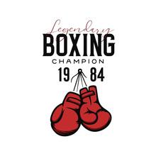 Boxing Champion T-shirt Design. Vector Illustration.