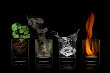 Four Elements Concept In Glass...