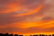 canvas print picture - Silhouette in der Abenddämmerung