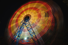 Ferris Wheel At County Fair At...