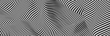 Abstract Striped Surface, Blac...