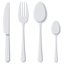 Cutlery Flat Design Icon Set I...