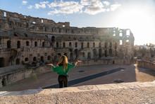 Amphitheatre Of El Jem Is An Oval Amphitheatre In The Modern-day City Of El Djem, Tunisia