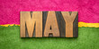 canvas print picture - May month in wood type