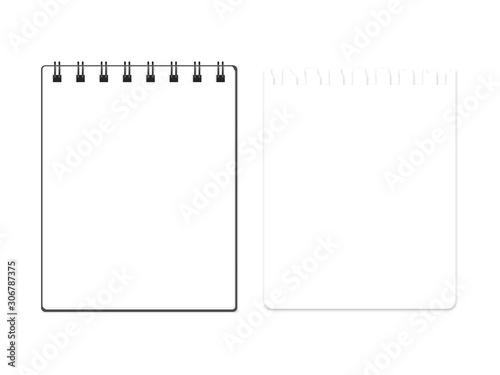 Fényképezés Vector block note with torn block note page set