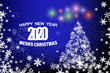 merry christmas background with snowflakes and place for your text