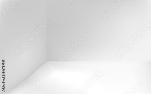 Angular minimalistic white background Canvas Print