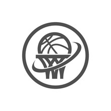 Basketball Net And Swoosh Logo...