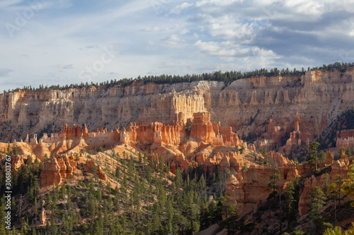 Sunset at Red Bryce Canyon Hoodoos with Cloudscape