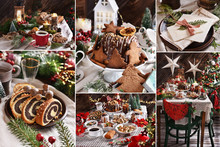 Collage Of Christmas Eve Table...