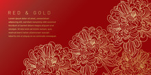 Red And Gold Flower Illustration