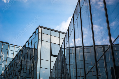 Fototapeta detail glass building background obraz