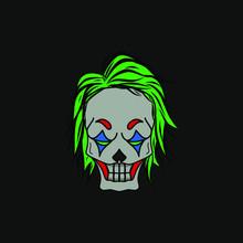 The Angry Skull Clown Logo Mas...
