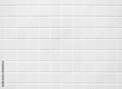 White tile wall Background Bathroom floor texture minimal decoration