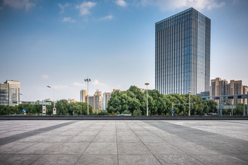 modern skyscrapers in modern city