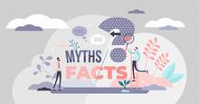 Myths And Facts Vector Illustr...