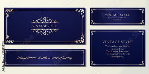 Obraz 高級感のあるフレームデザイン、カードデザインのテンプレート - fototapety do salonu