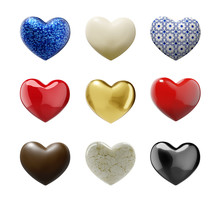 Various Hearts With Clipping P...