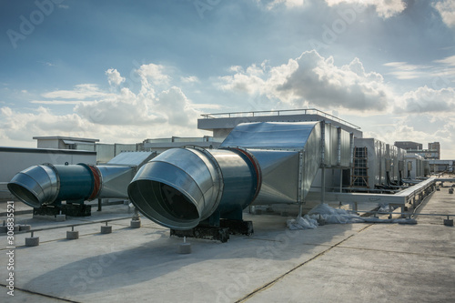 Big air control system on a roof Canvas Print