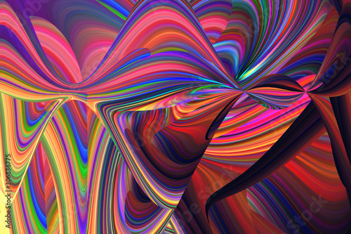 An abstract psychedelic background image. Wallpaper Mural