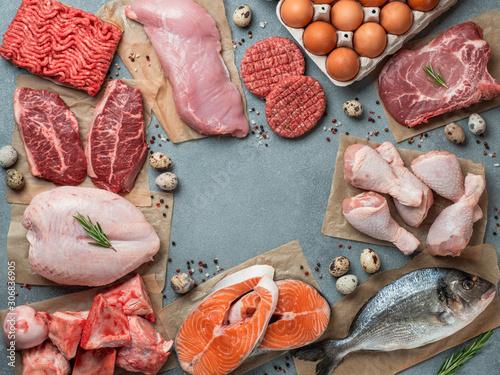 Canvas Print Carnivore diet concept