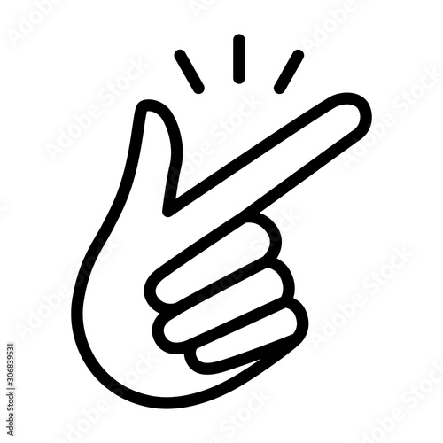 Snap your fingers or finger snapping hand gesture line art vector icon for apps Fototapete