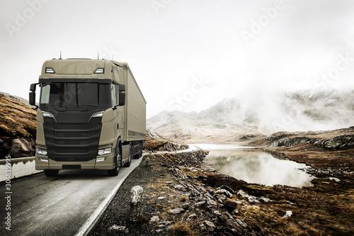Fotografiet Trucking in the Alpes