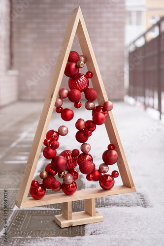 Photo Alternative wooden christmas tree