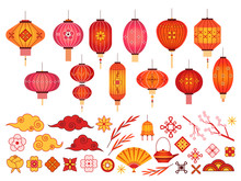 Chinese New Year Elements. Asi...