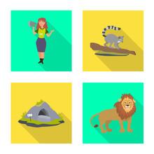Vector Illustration Of Safari ...