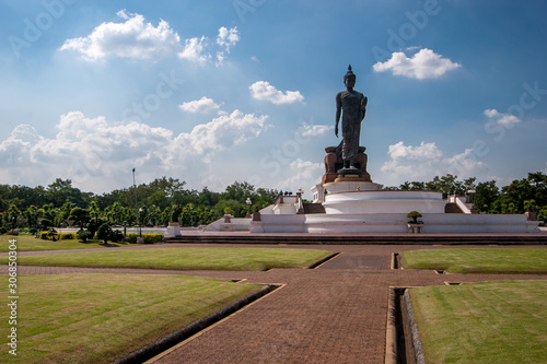 фотография Perhaps the largest statue of a walking Buddha in Phutthamonthon Park also spelled Buddha Monthon in Bangkok