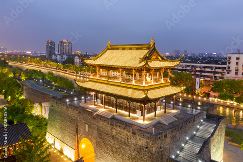 Chinese Temple Gate in Suzhou