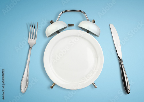 Fotografía Concept of intermittent fasting, diet and weight loss