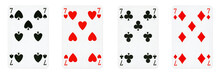 Four Playing Cards Isolated On...