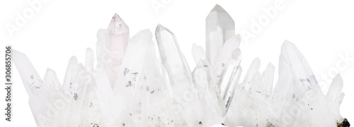 Fotografie, Obraz white natural mountain crystals isolated stripe