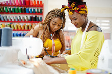 Two African Dressmaker Woman S...