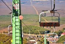 A Sky Lift In A Ski Resort