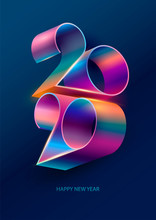 New Year 2020. Colorful Letter...