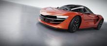 New Fast Super Sports Car Rear...