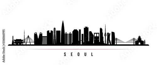 Photo Seoul skyline horizontal banner
