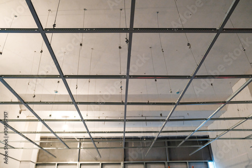 the installation of suspended ceiling at the construction site Fototapet