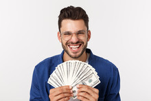 Attractive Man Is Holding Cash...