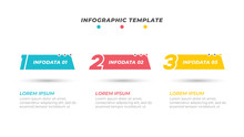 Business Template Content Design With Number Option And Marketing Icons. Vector Business Concept With 3 Step.